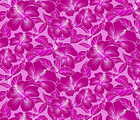 Batik Saidah Magenta Original hibiscus batik magenta on pink 300 fabric kadyson spoonflower