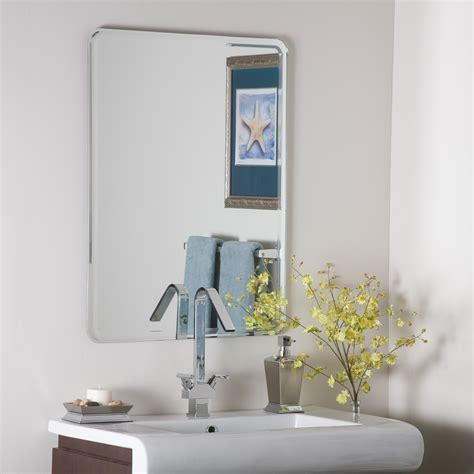 large frameless bathroom mirrors decor wonderland samson large frameless mirror beyond stores