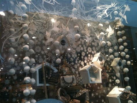 monsoon white christmas window window display ideas for