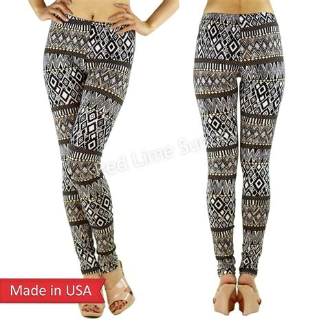 black and brown patterned tights tribal aztec ethnic black white brown zigzag pattern print