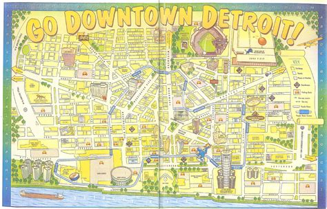 detroit people mover map map downtown detroit my blog
