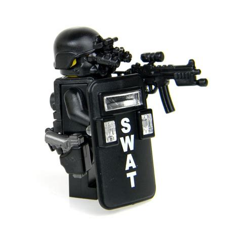 Swat S W A T Black swat pointman officer minfigure sku50 made with
