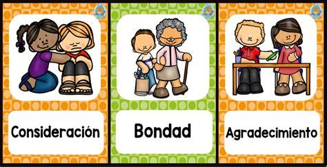 Imagenes Educativas De Valores | valores tarjetas portada imagenes educativas