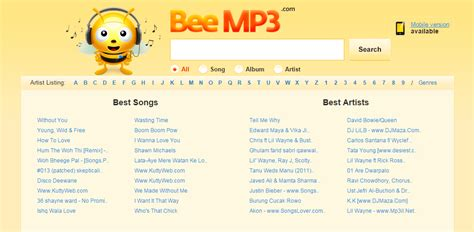 best mp3 site 25 best free mp3 in a world