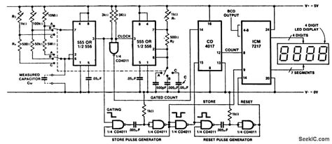 capacitance meter schematic diagram inexpensive capacitance meter power supply circuit circuit diagram seekic