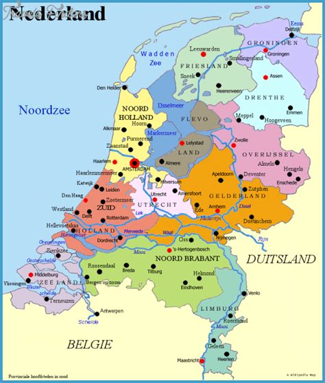 netherlands map map netherlands map travel map vacations