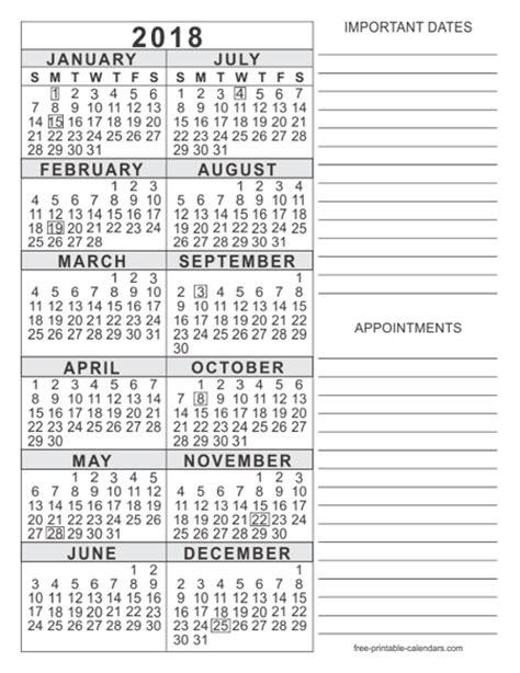 Printfree Calendar 2018 Free Printable Calendars 2017 Year Calendar Template 2016