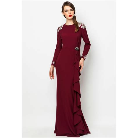 Dress Muslimah izz latif dress muslimah jovian mandagie for zalora murah