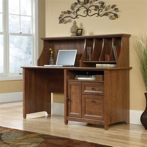 Computer Desk With Hutch In Auburn Cherry 419401 Office Computer Desk With Hutch