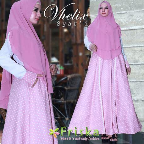 Syari Muslim Dusty Pink Nmgundam gamis syari cantik vhelix syari by friska pusat grosir