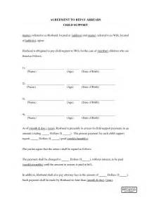Agreement Letter Child Support Child Support Agreement Template Best Business Template