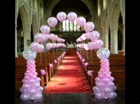 Diy Home Decorations Ideas by Simple Wedding Balloon Decorating Ideas Youtube
