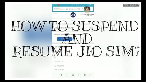 how to suspend and resume jio sim