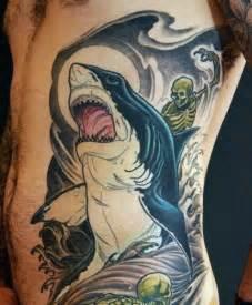 90 shark tattoo designs for men underwater food chain
