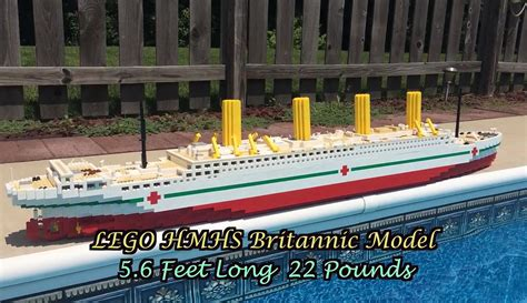 lego boat sinking in pool lego britannic sinks in 40 seconds legoleaks blog28 fc2