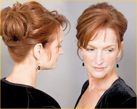 wedding updos for older women wedding hairstyles auburn hair color for older women