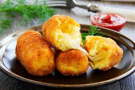 Croquette De Mozzarella by Potato Croquettes With Mozzarella Stock Image Image