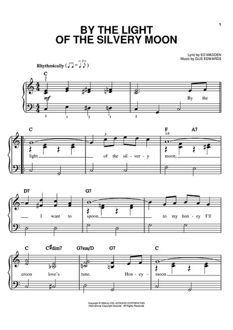 by the light of the silvery moon by little richard youtube by the light of the silvery moon sheet music for piano