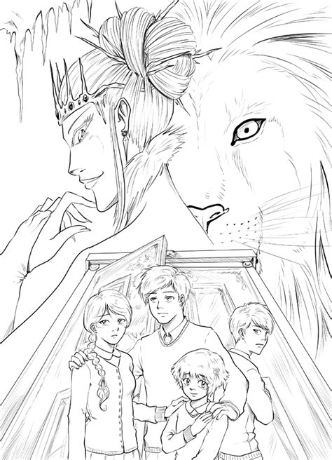 The Lion, the Witch and the Wardrobe inked by TriaElf9 on
