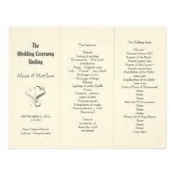 Tri Fold Wedding Program Template by Blush Tri Fold Two Hearts Wedding Program Template Zazzle