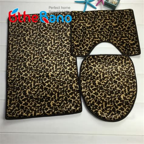 leopard bathroom rug popular leopard bath rugs buy cheap leopard bath rugs lots