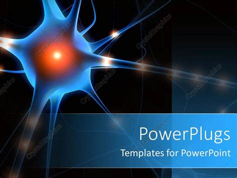 Powerpoint Template A Nerve Cell With Blackish Background And Place For Text 20064 Cell Powerpoint Template
