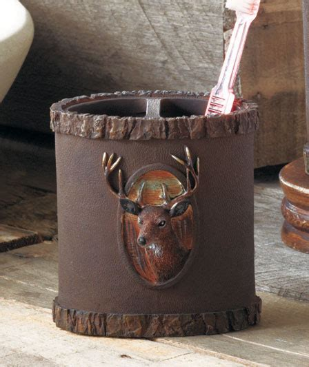 deer bathroom accessories woodland tranquil deer buck bath bathroom collection cabin