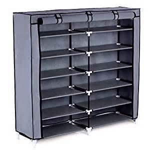 Sellers Kitchen Cabinet For Sale Amazon Com Songmics 7 Tier Shoe Rack 36 Pair Portable