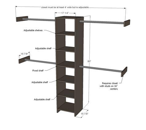 Closet Building Plans by Wood Work Build A Closet Organizer Do It Yourself Pdf Plans