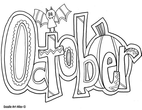 october color october coloring pages for calendar