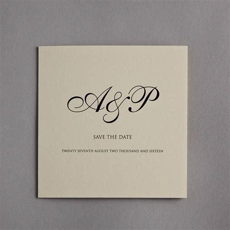 hochzeitseinladung initialen monogram wedding invitation by twenty seven