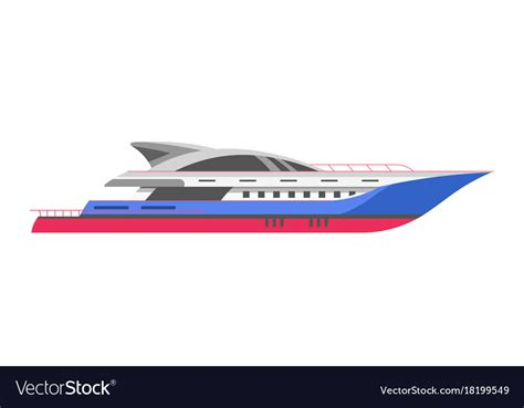 motorboat or sailboat yacht or speedboar sailboat and motorboat sea vector image