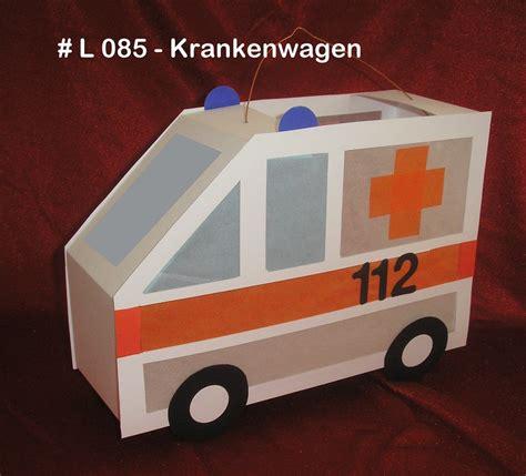 Polizeiauto Selber Malen by Anleitung Laterne Rettungswagen Rtw Bastelk 246 Nigin