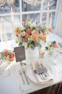 wedding table setting images 46 grey and coral wedding ideas happywedd