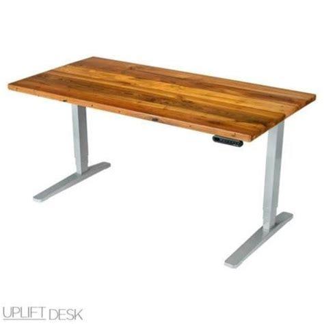 uplift desk vs evodesk uplift height adjustable standing desk w reclaimed wood