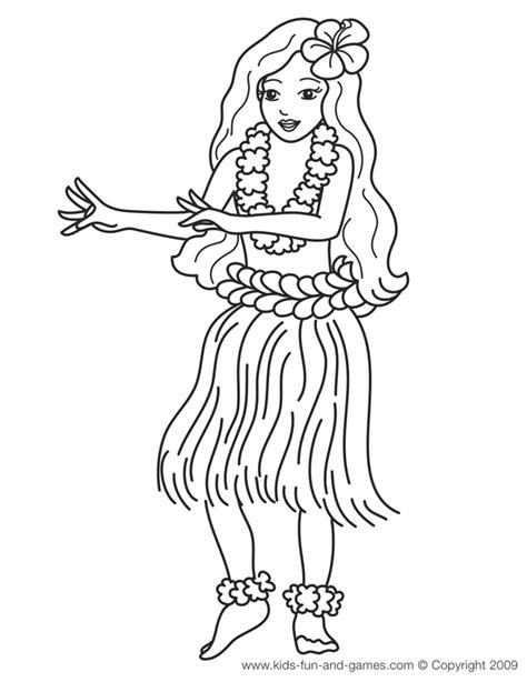 coloring page hawaii printable hawaiian coloring pages az coloring pages