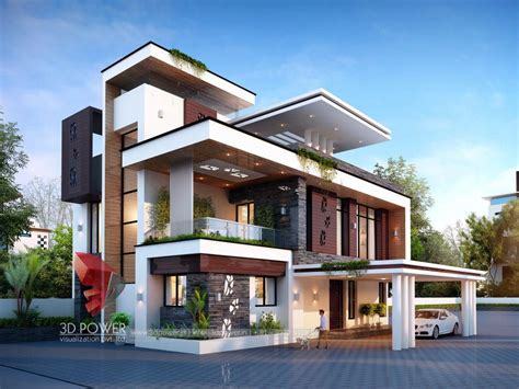 bungalow home designs bunglow design 3d architectural rendering services 3d