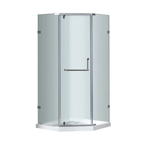 Shower Enclosure With Base Aston Sen973 36 In X 36 In X 77 1 2 In Semi Frameless
