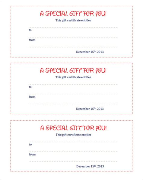gift coupon templateblank coupon template free printable