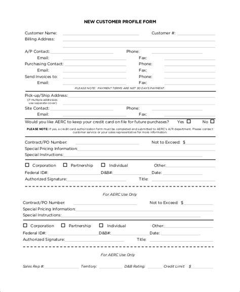 8 Sle Customer Profiles Sle Templates Customer Profile Template
