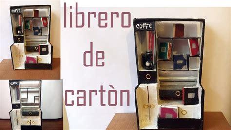 librero reciclado de carton diy como hacer un librero hecho de cart 211 n youtube