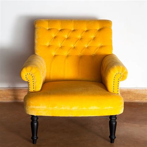 yellow velvet armchair ruby star traders ruby star traders