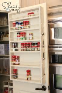 Hanging Spice Rack On Door Pantry Ideas Diy Door Spice Rack Shanty 2 Chic