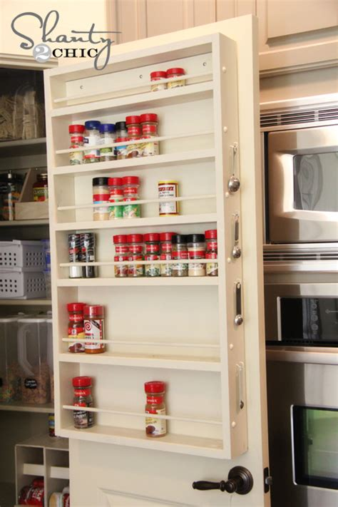 diy shelf spice rack diy pantry door spice rack hometalk