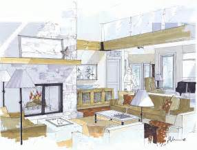 interior design sketchup michelle morelan s hybrid drawings for interior design