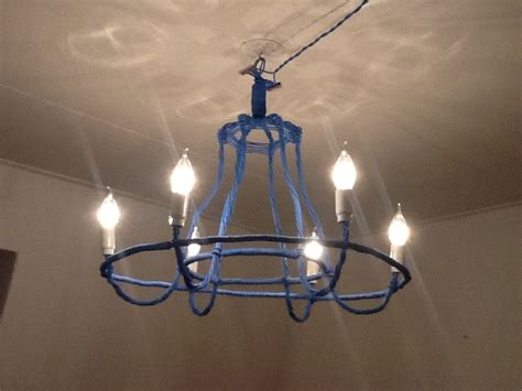 Diy Wire Chandelier Chandelier Of Electrical Wire Diy Ls