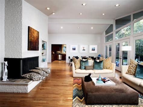 midcentury modern living room  dining room combo