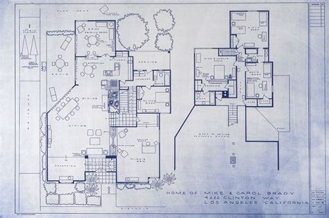 bewitched house floor plan the brady bunch house blueprint sitcom floor plans