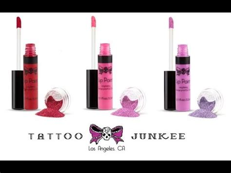 tattoo junkee lip paint review tattoo junkee s lip paints with glitter 3 color review