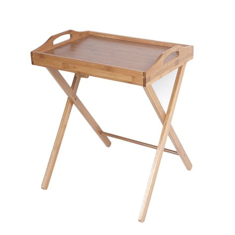 Movable Coffee Table Wooden Folding Wood Tv Tray Dinner Table Coffee Stand Serving Snack Tea Portable 699971311583 Ebay